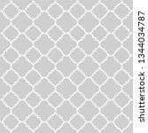 seamless gray oriental pattern. ... | Shutterstock .eps vector #1344034787