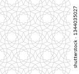 seamless gray oriental pattern. ... | Shutterstock .eps vector #1344035027