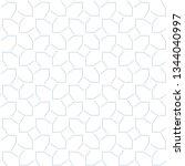 seamless geometric ornamental... | Shutterstock .eps vector #1344040997