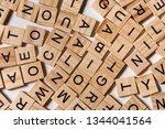 Background Of Wooden Alphabet...