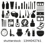 47 black and white cosmetic... | Shutterstock .eps vector #1344042761