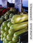 varied vegetables in street...