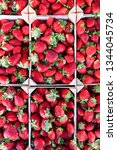 red strawberries grouped in...
