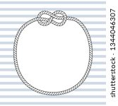 black and white marine knots...   Shutterstock .eps vector #1344046307