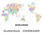 mosaic technical worldwide map... | Shutterstock .eps vector #1344061604