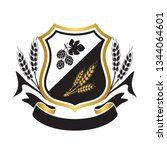 coat of arms for brewery... | Shutterstock .eps vector #1344064601