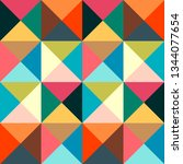 geometric simple colored... | Shutterstock .eps vector #1344077654