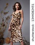 pretty fashion beauty model... | Shutterstock . vector #1344082451