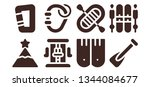 extreme icon set. 8 filled... | Shutterstock .eps vector #1344084677