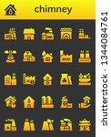 chimney icon set. 26 filled... | Shutterstock .eps vector #1344084761