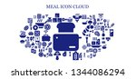 meal icon set. 93 filled meal... | Shutterstock .eps vector #1344086294