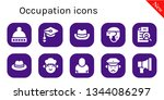 occupation icon set. 10 filled... | Shutterstock .eps vector #1344086297