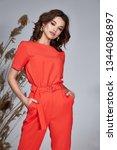 portrait pretty fashion beauty... | Shutterstock . vector #1344086897