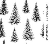 fir tree spruce graphic black... | Shutterstock .eps vector #1344092324