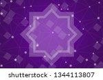 beautiful purple abstract... | Shutterstock . vector #1344113807