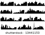 city skyline illustration | Shutterstock .eps vector #13441153