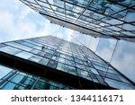 building facade with blue sky . ... | Shutterstock . vector #1344116171