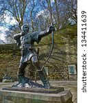 Small photo of Statue of Robin Hood, Prince of theives.
