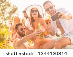 group of friends having fun at...   Shutterstock . vector #1344130814