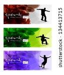 skateboarders. vector | Shutterstock .eps vector #134413715