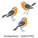 Stylized Birds     European...