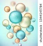 3d multicolored decorative... | Shutterstock . vector #1344145784