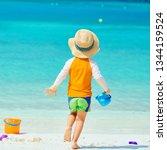 three year old toddler boy... | Shutterstock . vector #1344159524