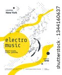 electro music modern club party ... | Shutterstock .eps vector #1344160637