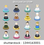 occupations icon set 1. | Shutterstock .eps vector #1344163001