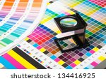 the magnifying glass standing... | Shutterstock . vector #134416925