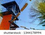 adrenaline park  climbing       ...   Shutterstock . vector #1344178994