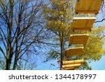 adrenaline park  climbing       ...   Shutterstock . vector #1344178997
