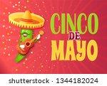 cinco de mayo greeting poster... | Shutterstock .eps vector #1344182024
