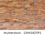 detailed red brick wall... | Shutterstock . vector #1344182591