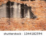 detailed red brick wall... | Shutterstock . vector #1344182594