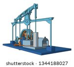 the steam engine operated by... | Shutterstock .eps vector #1344188027