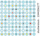 100 information book icons set...   Shutterstock .eps vector #1344206177
