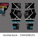 leggings pants for gym | Shutterstock .eps vector #1344208151
