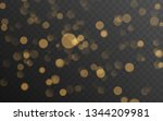 abstract golden shining bokeh... | Shutterstock .eps vector #1344209981