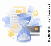 tax time vector illustration... | Shutterstock .eps vector #1344211331