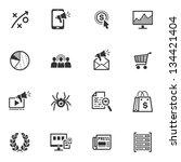 seo   internet marketing icons  ... | Shutterstock .eps vector #134421404
