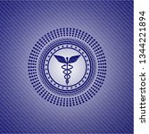 caduceus medical icon with jean ...   Shutterstock .eps vector #1344221894