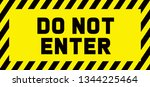 stop signs do not enter danger... | Shutterstock .eps vector #1344225464