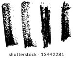 grungy brush strokes set | Shutterstock .eps vector #13442281