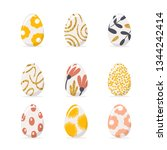 set of easter eggs in pastel... | Shutterstock .eps vector #1344242414