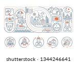linear banner of united arab... | Shutterstock . vector #1344246641