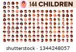 children avatar set vector.... | Shutterstock .eps vector #1344248057