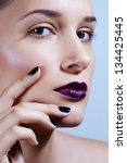 multicolored creativity make up.... | Shutterstock . vector #134425445