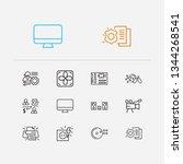 electronics icons set. computer ...