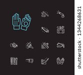 construction tools icons set....